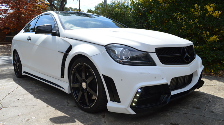 wrapped mercedes C250