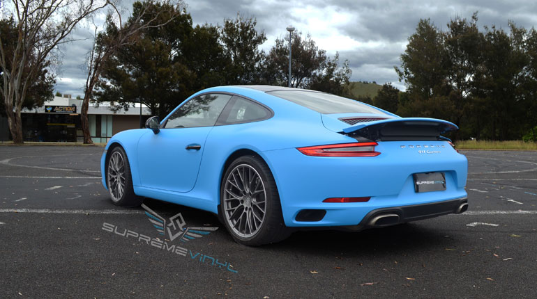 wrapped Porsche 911 Carrera 4S Canberra