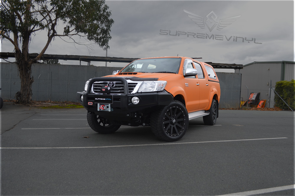 Wrapped toyota hilux